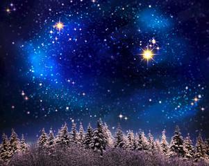 Christmas sky background.
