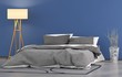 canvas print picture - Blaues Schlafzimmer
