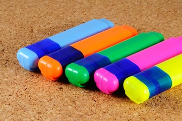 Highlighter pens © Arena Photo UK