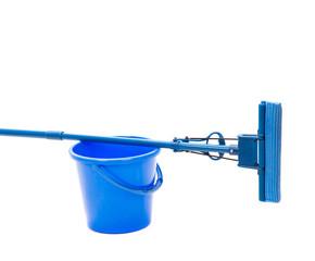 bucket with sponge mop