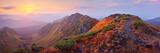 Mountain panorama at dawn