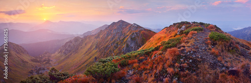 Mountain panorama at dawn © Oleksandr Kotenko