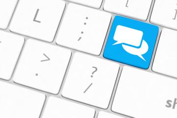 Speech bubble key button on the keyboard.