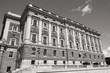 Parliament of Sweden. Black and white photo.
