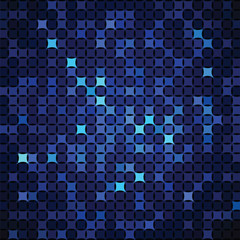 Abstract background of blue shapes