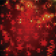 Abstract background of red and yellow shapes
