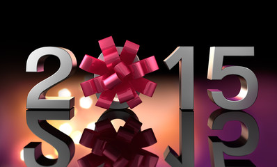 2015 mit Geschenkschleife