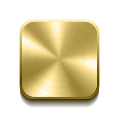 Realistic gold button