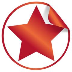 button / aufkleber rot stern