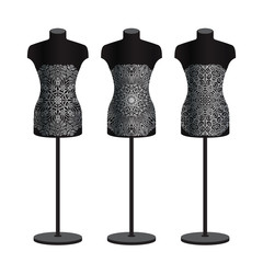 Mannequins for clothes on a white background. Vector set.