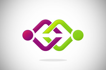 business connection abstract design logo