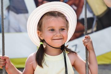 Little girl smiling