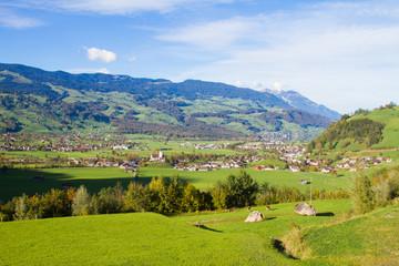 The villages near Lake Thun