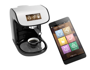 Smart phone apps for coffee machine.