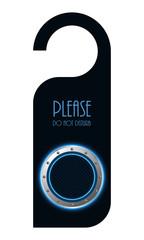 door tag with special metallic design