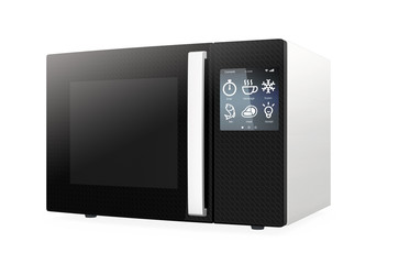 Microwave oven with touch screen.