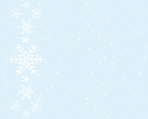 Snowflakes background. Greeting card.