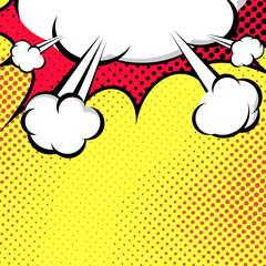 Hanging Speech Bubble Cloud Pop-Art Style
