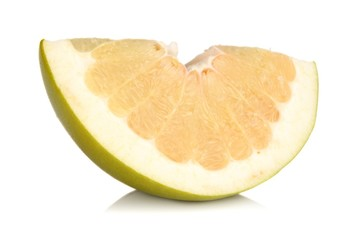 Quarter of pomelo, chinese grapefruit isolated on white