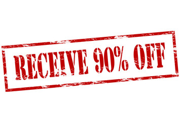 Receive ninety percent off