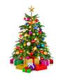 Bunter Christbaum mit Geschenken
