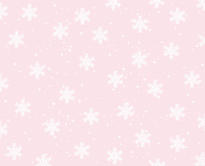 Pink snowflakes background.