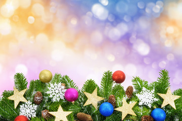 Bunter weihnachtlicher Hintergrund