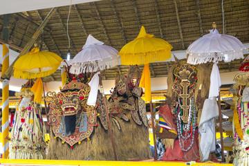Barong and Rangda in the anniversary of Ulun Danu Temple, Bali