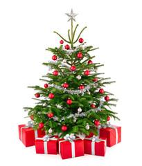 Eleganter Weihnachtsbaum mit Geschenken