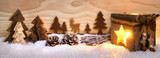 Fototapety Weihnachtliche Szene aus Holz mit Laterne