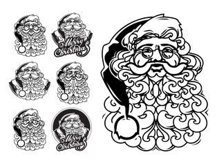 Santa Claus hand drawn vector llustration. sketch