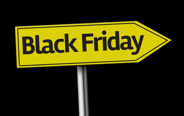 Black Friday creative sign on black background