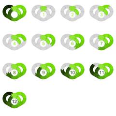 Circle Puzzle 12 - Green 2