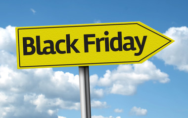 Black Friday creative sign on a beautiful day