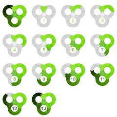 Circle Puzzle 13 - Green 2