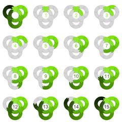Circle Puzzle 15 - Green 2
