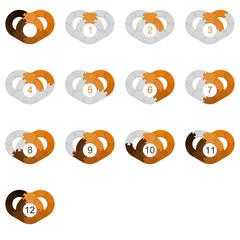 Circle Puzzle 12 - Orange 2