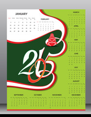 happy new year 2015 calender design