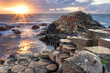Leinwanddruck Bild - Sunset at Giant s causeway