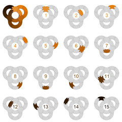 Circle Puzzle 15 - Orange 1