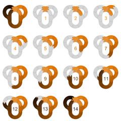 Circle Puzzle 14 - Orange 2