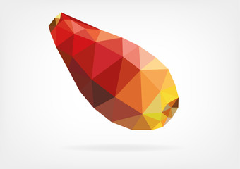 Low Poly Opuntia fruit