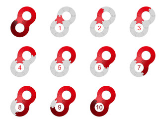 Circle Puzzle 10 - Red 2