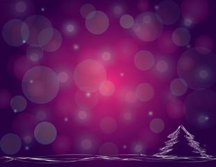 Violet snowing