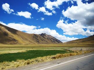 Vallée de la cordillère des Andes, Pérou