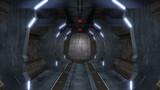 Endless corridor with sci-fi interior
