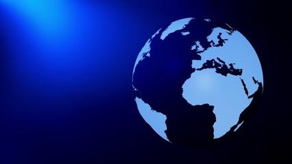 Globe rotating background