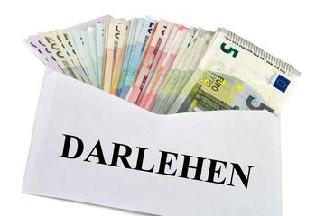 Geldscheine im Briefumschlag - Darlehen