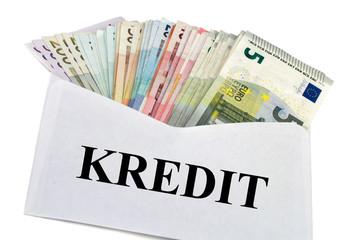 Geldscheine im Briefumschlag - Kredit