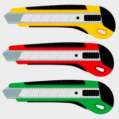Cutter knife (office paper knife) set